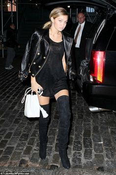 Risque! Gigi Hadid emerged after appearing in the Balmain X H&M Collection Launch show in ...