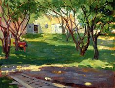 """""""The Orchard,"""" Pauline Lennards Palmer, after 1902, oil on canvas, 11 1/2 x 14 1/2"""", Terra Foundation for American Art. """"The Orchard"""" probably pictures a spot in Provincetown."""
