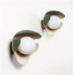 :: Palle Suenson, a pair of wall lamps, c. 1940 ::