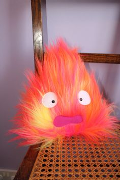 Howl's Moving Castle Calcifer Plush! Softies, Plushies, Plushie Patterns, Softie Pattern, Doll Patterns, Anime Crafts, Kawaii Crafts, Fun Crafts, Diy And Crafts