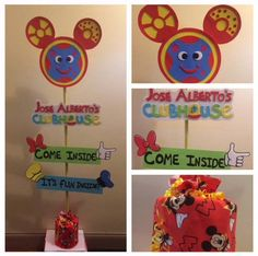 Mickey Mouse clubhouse inspired birthday baby shower sign by SwitzersSweets on Etsy