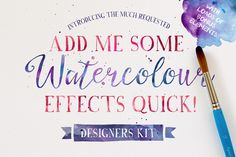 One of the hottest recent design trends is watercolor graphics. Some days it seems like watercolor brushes, patterns, backgrounds, and