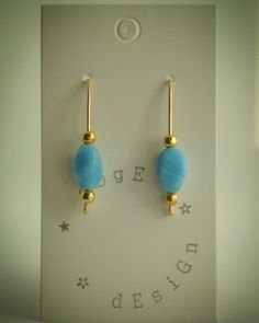 Wire balance earrings - Gold plate