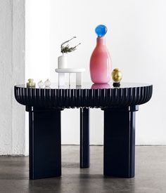 Crooked Concept SDW16 - fotograf Mathilda Werngren_1  A group of young Scandinavian designers put on an offsite exhibition called Crooked Concept that had something to do with exploring the working process, but we don't know much more than that thanks to a Swedish press release. Aren't the works beautiful though? We especially like the lacquered table above by LACC.