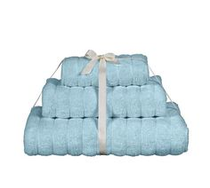 Buy Heart of House 3 Piece Ribbed Towel Bale - Soft Blue at Argos.co.uk, visit Argos.co.uk to shop online for Home furnishings, Clearance Home and garden, Home and garden