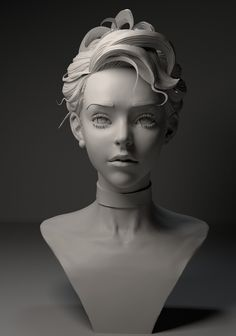 Character Modeling, Character Art, Character Inspiration, Character Design, Digital Portrait, Portrait Art, Tutorial Zbrush, Drawing Heads, Drawing Faces