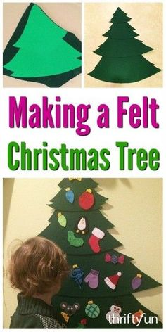 This is a guide about making a felt Christmas tree. Make your little one this cute felt tree so that she or he too can help decorate for the holidays.