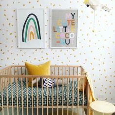 Move Over, Blue and Pink — Yellow Nursery Ideas Are Oh So On-Trend | Hunker#blue #hunker #ideas #move #nursery #ontrend #pink #yellow Baby Nursery Closet, Baby Girl Bedding, Baby Bedroom, Baby Boy Rooms, Baby Boy Nurseries, Girl Nursery, Girl Room, Nursery Ideas, Kids Rooms