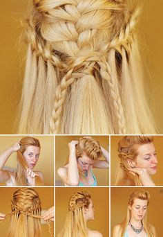 Viking Braids Tutorial. Feel like a Shieldmaiden!!!_____want to try this on my hair when I get crochet braids