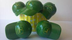 John Deere hat cupcake picks