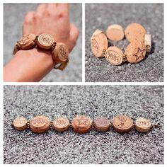 Basteln mit Korken bracelet armband rund