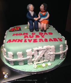Coolest 40th Wedding Anniversary Cake... Coolest Birthday Cake Ideas