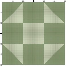 Free Needlepoint Patterns of Popular Quilt Blocks: Shoo Fly Quilt Block Needlepoint Coaster