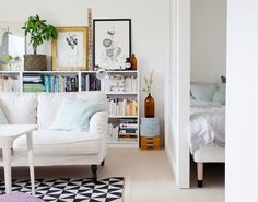 A charming, small swedish home in white and pastels | my scandinavian home | Bloglovin'