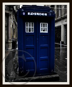old police box (1) (glasgow) Dr Who Tardis archival glicee print on Etsy, $18.97