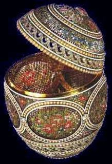 """The """"Mosaic Egg"""" is part of the Royal Collection of Queen Elizabeth. Miss Meadows' Pearls - Fashion, Photography, Alternative Model, Burlesque, Vintage"""