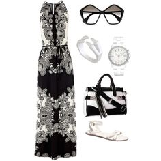 """Everything is just black and white"" by giadixon on Polyvore"