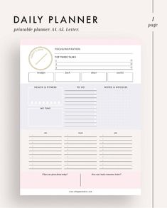 This Daily planner printable planner planner inserts planner is just one of the custom, handmade pieces you'll find in our calendars & planners shops.