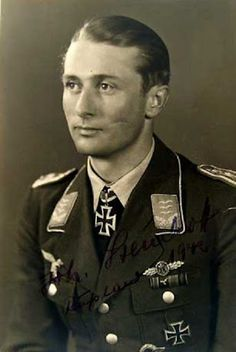 "Johannes ""Macky"" Steinhoff (15 September 1913 – 21 February 1994) was a German Luftwaffe fighter ace of World War II, and later a senior West German Air Force officer and military commander of NATO. He played a significant role in rebuilding the post war Luftwaffe. He was also one of the highest-scoring pilots with 176 victories, and one of the first to fly the Messerschmitt Me 262 jet fighter in combat as a member of the famous aces squadron Jagdverband 44 led by Adolf Galland."