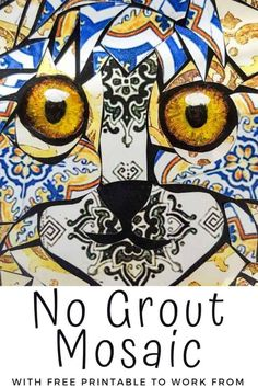 If you hate to grout you're going to love this tutorial that shows you how to create a beautiful mosaic without the mess. You can also download a free template that will guide you in making the mosaic. #NoGroutMosaic #DIYMosaic #ACraftyMix #MosaicIdeas #VinylTileMosaic Easy Adult Craft, Adult Crafts, Diy Home Crafts, Easy Crafts, Easy Diy, Mosaic Diy, Mosaic Tiles, Relaxing Art, Weird Shapes