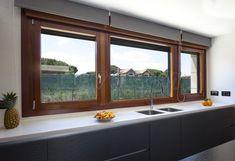 Windows in white Window Over Sink, French Doors Patio, Window Design, Modern House Design, Home Decor Bedroom, Windows And Doors, Interior Design Living Room, Kitchen Design, Sweet Home