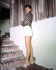 Sabrina Audrey Hepburn Rare Color Full Length Pose In Shorts Poster Or Photo