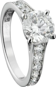Engagement ring: Solitaire 1895 ring, platinum set with a brilliant-cut diamond available in to carats and brilliant-cut Ring Ring, Solitaire Ring, Dimond Ring, Engagement Inspiration, Platinum Ring, Fine Jewelry, Engagement Rings, Diamond, Clear Skin