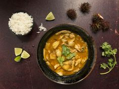 Tender chicken breast with sweet rambutan and pineapple in a spicy curry broth makes for the perfect summer dish.