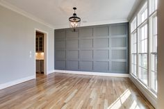 Accent Wall Bedroom, Bedroom Decor, Home Renovation, Home Remodeling, Wainscoting Bedroom, House Trim, Dining Room Walls, Living Room, Deco Design