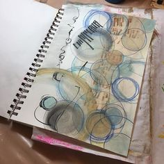 """Another page in my art journal. This one started out as a """"scratch sheet,"""" to…"""