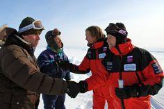 Alexander Skarsgård, Lars Arentz-Hansen, Stephen Mangan and Rhys Thomas in Beyond the Pole (2009)