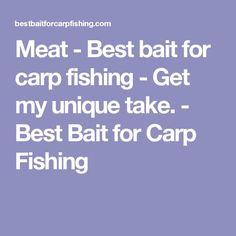 Meat - Best bait for carp fishing - Get my unique take. - Best Bait for Carp Fishing