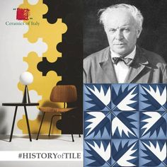 """Gio Ponti was one of the most prolific designers of the 20th century and one of his favorite materials was ceramic! He collaborated with many Italian tile companies to different collections, whose timeless designs are still used nowadays. Pictured: Project Triennale (available through Marazzi) and """"La Foglia"""", a design that can be found at Hotel Parco dei Principi di Sorrento on the Amalfi coast. #TBT #HistoryOfTile"""