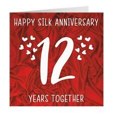 12th Wedding Anniversary Card Silk Anniversary Iconic Collection Ebay In 2021 12th Wedding Anniversary Wedding Anniversary Cards Wedding Anniversary