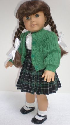 GREEN SWEATER American Girl 18 inch doll