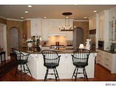 Windsor chair stools & white kitchen {mt}