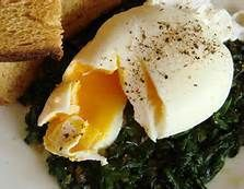 Poached Eggs with Spinach and Sage Rosemary Olive Oil Recipe