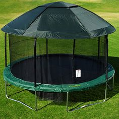 JumPod Elite 14u0027 Tr&oline and Enclosure Combo with Protective Cover & Jump Power Trampoline Tent (Sizes available 10-12-13-14-15ft ...
