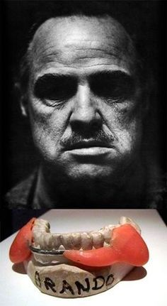 Dentaltown - This dental insert was made by Dick Smith and a dentist from New York, Henry Dwork, and was worn by Marlon Brando performing Don Corleone in the 1972 The Godfather. Dwork made the insert and Smith adjusted it on the first days of shooting. The appearance of the jaw, and thus the expression of the faces that were obtained from latex inserts were not liked by Brando and he initially did not want to wear it. I think Smith and Dwork, and of course Brando, did an excellent job! What…
