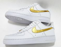 new style f282d 6fc66 24k Gold, Nike Air Force 1 Sneakers, Custom Nike Air Force 1 Low, Supreme,  Sport Shoes, Basketball shoes, Mens, womens - Free Shipping!!
