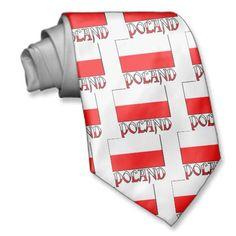 Poland Flag & Name Necktie