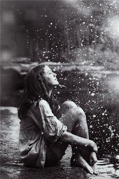 I like rain, i can feel... i can hear the raindrops.