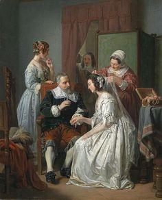 Leopold Löffler, Die Braut (Panna młoda), 1852