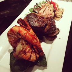 "[Homemade] ""Land Sky and Sea"" - Beef Tenderloin Seared Duck Breast and Jumbo Shrimp http://ift.tt/2m4vkkY"