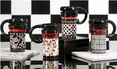 A game on ceramic travel mug with recessed twist style lid is a perfect gift for every game enthusiast or casino addict that you may know. Your choice of words, crossword, Sudoku or casino styles. Holds 14 ounces. From Giftcraft. Sells for $24.95. http://www.etreasuresgifts.com/flowerpotpen.html