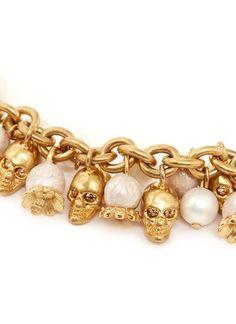 ALEXANDER MCQUEEN - Pearl skull bracelet