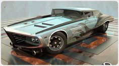 Super cool half old school thunderbird half futuristic car 010809 - NFZ W4 by *600v on deviantART