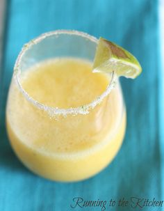 Mango Coconut Frozen Margaritas from Running to the Kitchen.