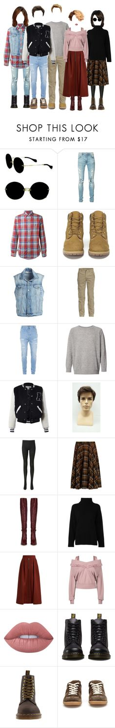 """""""The Breakfast Club"""" by sara-lee-92 ❤ liked on Polyvore featuring Miu Miu, AMIRI, Ralph Lauren, Timberland, Frame, Jeep, Topman, The Elder Statesman, Sans Souci and Uniqlo"""