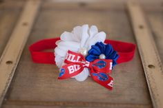 Buffalo Bills Headband, Bills Baby Heaband, Buffalo Bills Girls Headband, Great Photo Prop